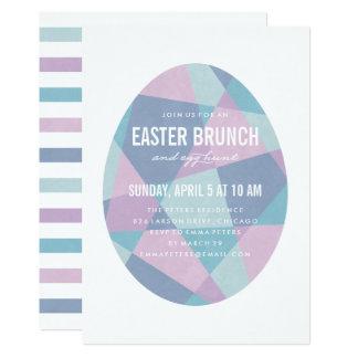 Prism Egg Easter Party Invitation - Blue