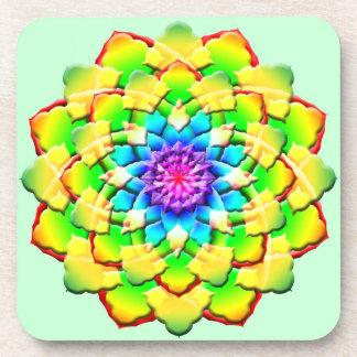 Prism Flower Mandala Beverage Coasters