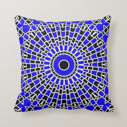 Prism Mandala ( Blue ) Throw Pillow