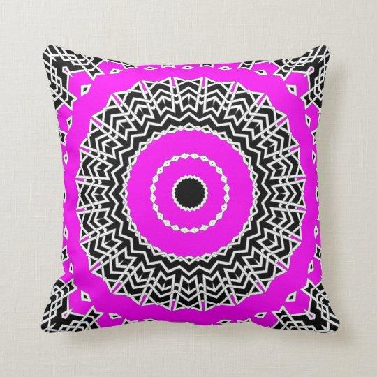 Prism Mandala ( Pink ) Throw Pillow