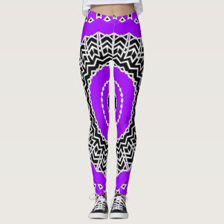 Prism Mandala ( Purple ) Leggings