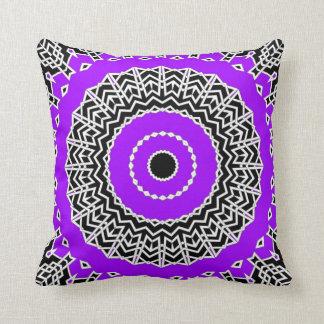 Prism Mandala ( Purple ) Throw Pillow