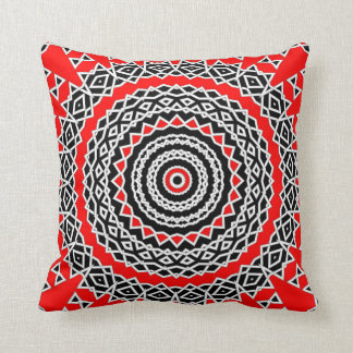 Prism Mandala ( Red ) Throw Pillow