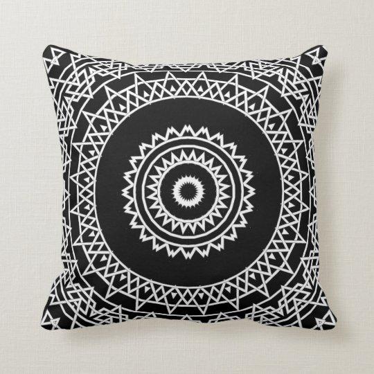 Prism Mandala Throw Pillow