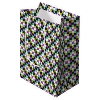 Prism Quilt Pattern Medium Gift Bag