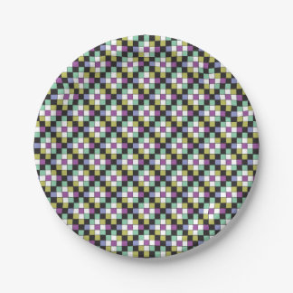 Prism Quilt Pattern Paper Plate