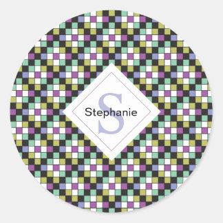 Prism Quilt Pattern Stickers