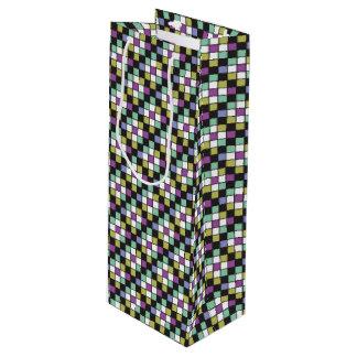 Prism Quilt Pattern Wine Gift Bag