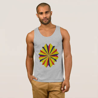 Prismatic basic grey tank top