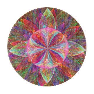 Prismatic Bloom Orb Fractal Cutting Board