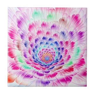 Prismatic Bloom Photo Tile