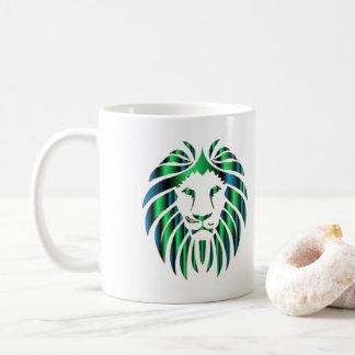 Prismatic Colorful Lion Head, Novelty Coffee Mug