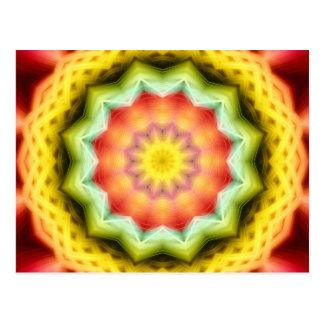 Prismatic Eye Mandala Postcard