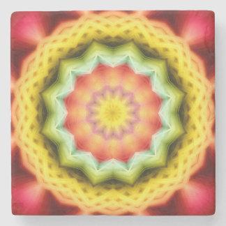 Prismatic Eye Mandala Stone Coaster
