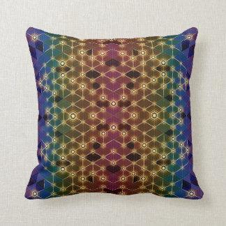 Prismatic Luciferin - Throw Pillow by Vibrata