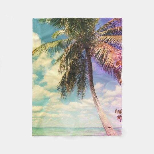 Prismatic Palm Fleece Blanket