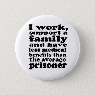 Prison Benefits 2 Inch Round Button