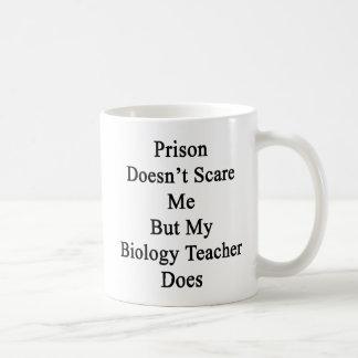 Prison Doesn't Scare Me But My Biology Teacher Doe Coffee Mug