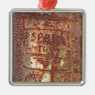Prison Graffiti Metal Ornament