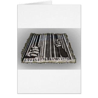 PRISON JAIL BAR CODE CARD
