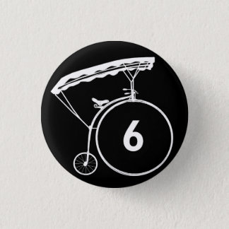 Prisoner Number 6 Button Badge Black