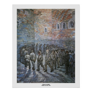 Prisoners Exercising by Vincent van Gogh Poster