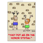 prisoners honour system card