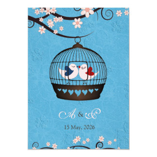 Prisoners of Love Blue Wedding Invite
