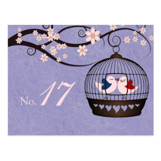 Prisoners of Love Mauve Wedding Table Number Card