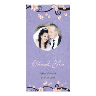 Prisoners of Love Violet Thank You Photo Card