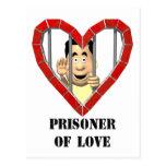Prisonnier de l'amour carte postale