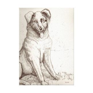 Prissy: Australian Shepherd Canvas Print