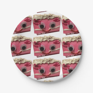 Prissy Pink Cake Face Paper Plates 7 Inch Paper Plate