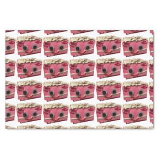 Prissy Pink Cake Face Tissue Paper