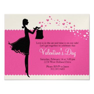 "Prissy Valentine Invitations 4.25"" X 5.5"" Invitation Card"