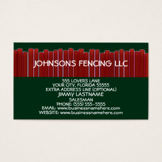 Privacy Fence Business Card