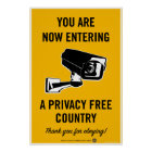 Privacy Free Country Poster