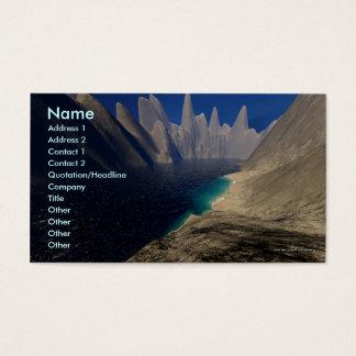 Private Beach Business Card Template