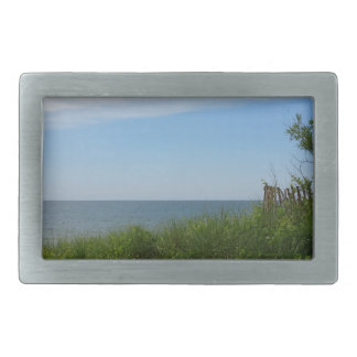 Private Beach on Lake Michigan Belt Buckles