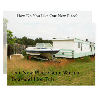 Private Change of Address Card: Boat and Hot Tub Card