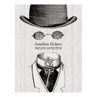 Private Detective Invisible Man Postcard