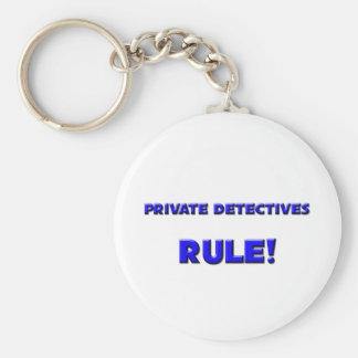 Private Detectives Rule! Basic Round Button Keychain