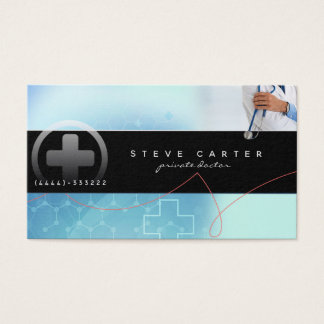 Private Doctor Clinic Medical Business Card