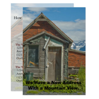 Private Funny Address Change Card: Mountain View Card
