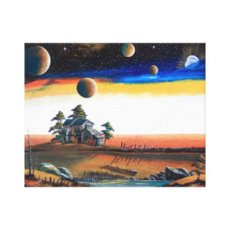Private house of outer space canvas print