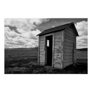 Private Idaho Outhouse Poster