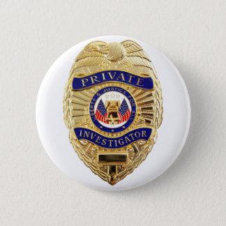 Private Investigator Badge 2 Inch Round Button