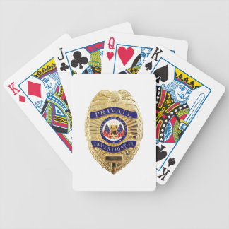 Private Investigator Badge Bicycle Playing Cards
