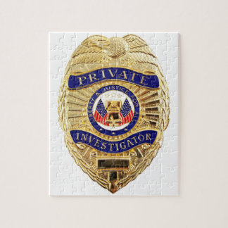Private Investigator Badge Jigsaw Puzzle