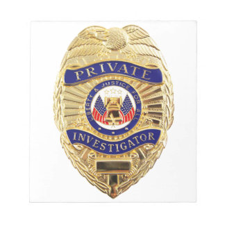 Private Investigator Badge Notepad